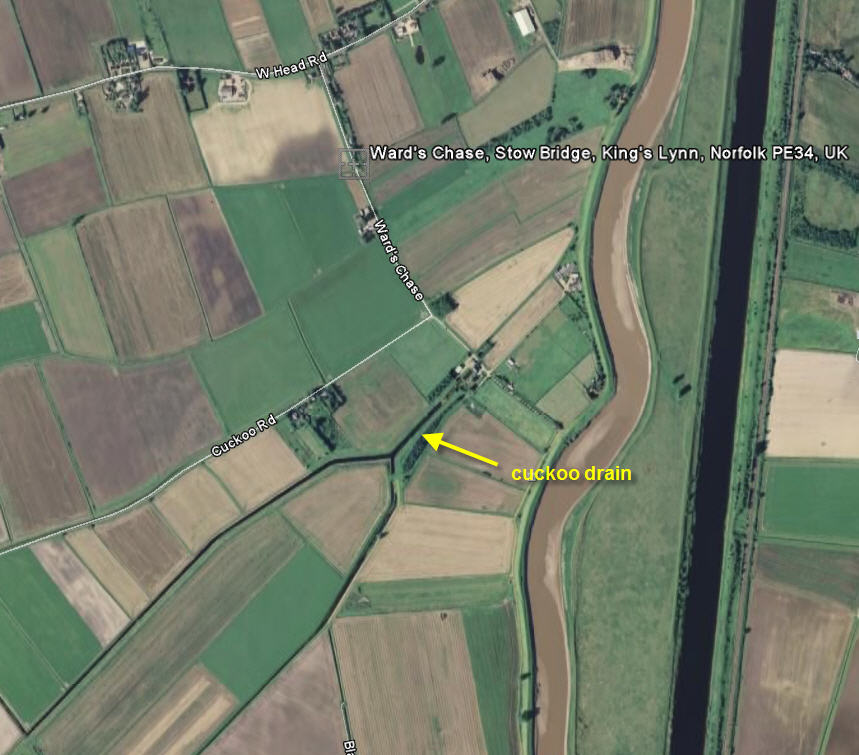 Cuckoo Drain map (from Google Earth)