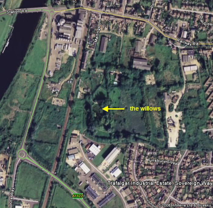 The Willows map (from Google Earth)